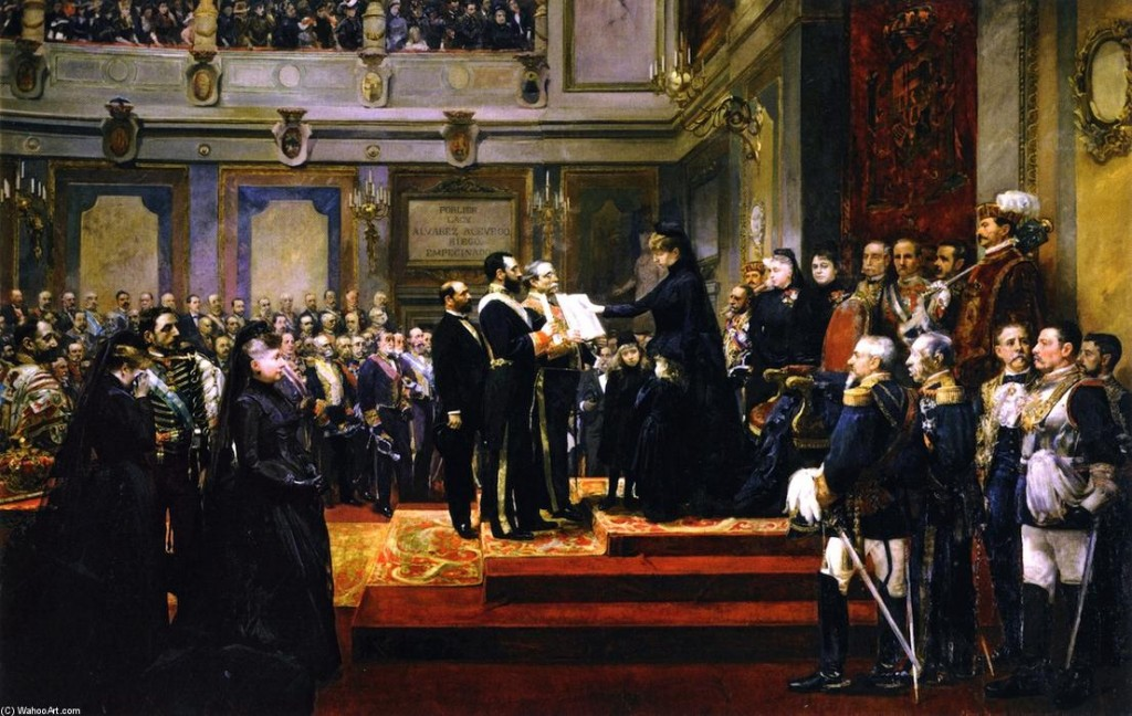 Joaquin-Sorolla-Y-Bastida-Pledge-to-the-Constitution-of-1876-by-the-Regent-Maria...ina-of-Hapsburg